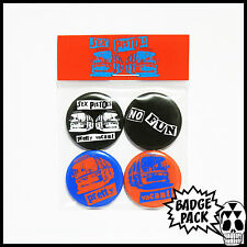 Sex Pistols - Pretty Vacant Button Badge Pack - 4 x 25mm Button Badges