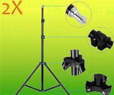 2X Fotostativ Stativ Lampenstativ Blitzstativ Kamerastativ bis max. 200cm DE DHL