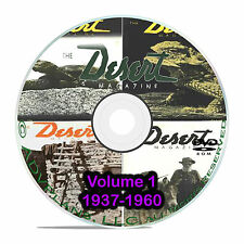Desert Magazine, 1937-1960, Volume 1 Southwest American Life Magazine CD DVD B57