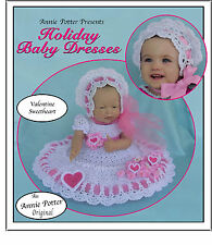 Crochet Annie Potter Presents Holiday Baby Dresses crochet doll dress pattern
