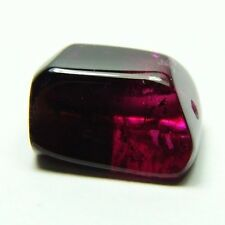 Q-161 Natural bicolor tourmaline, 11.55ct 10x13mm, drilled ,Brazil, red, unusual