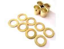 Brand New Set of  4 pcs Skateboard Bearing Spacer + 8 pcs Washers Color Gold