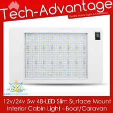 12V/24V WHITE 5W 48-LED SURFACE MOUNT INTERIOR CABIN/BOAT/CARAVAN/CAR LED LIGHT