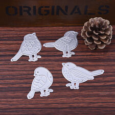4X Birds Set Dies Metal Cutting Stencil For Scrapbooking Paper Cards Decor Gifts