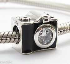 SNAPSHOTS CAMERA CHARM Bead Sterling Silver.925 For European Bracelet  803
