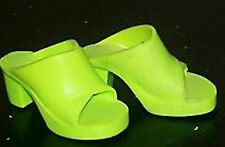 "TIFFANY TAYLOR LIME GREEN HIGH HEEL SHOES - fit CRISSY, Toni & other 16-19"" doll"