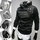1 Smart Men's Slim Fit Hooded Jacket Tops Designed Sweater Coat Hoodies S M L XL