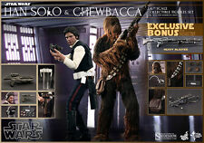 STAR WARS HAN SOLO & CHEWBACCA SIXTH SCALE FIGURE SET SIDESHOW MMS263 SHIPS FREE