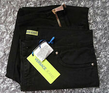 Versace skinny women's black embelished pocket Jeans size W27 x L29