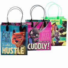 6 Pcs Disney Zootopia Authentic Licensed Small Party Favor Goodie Gift Bags
