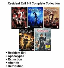 Resident Evil Movies Complete Collection 1 2 3 4 5 NEW AND SEALED UK R2 DVD