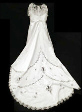 David's Bridal Style 94283 Size 20W White Satin Wedding Dress $549 Make Offer!