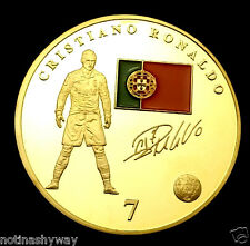 Ronaldo real madrid coupe du monde 2014 gold coin brésil 2014 super star signature uk