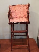 Antique Vintage Wooden Toy Doll High Chair