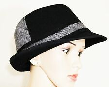 Collection Eighteen Fedora Black and Gray Hat Color-Blocked
