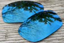 Dark Navy Blue Mirrored Replacement Sunglass Lenses for Oakley Fives Squared