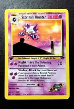 SABRINA'S HAUNTER 1st Edition GYM CHALLENGE Card 55/132 POKEMON Adult Owned