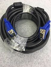 10M Macho a Macho SVGA/cable de plomo VGA para Ordenador Portátil Monitor TV LCD Video Pc
