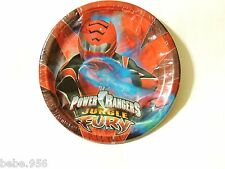 ~POWER RANGERS JUNGLE ~  8-APER DESSERT PLATES, BIRTHDAY-CHILD  PARTY  SUPPLIES
