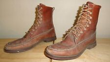 Vtg Brown Moc-Toe Leather GOKEY (St. Paul MN) Sport Hunting/Work Boots Sz.9.5A