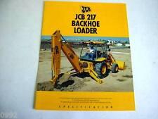 JCB 217 Tractor Loader Backhoe 8 Pages,1991 Brochure                           #