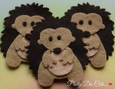 Felt Hedgehogs (pack of 3) Die Cut Craft Embellishments