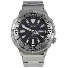 New Seiko SRP637 Prospex Automatic Diver Black Dial Stainless Steel Mens Watch