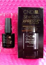 HUGE .5oz CND Shellac XPRESS5 Top Coat Clear LED Gel Nail Polish *5 MIN REMOVAL*
