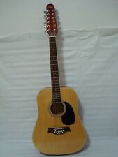 12 String Acoustic Electric Guitar /w 4 Band EQ - Natural