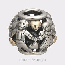 Authentic Pandora Sterling Silver & 14k Gold Family Forever Bead  791040