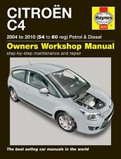 Citroen C4 Petrol & Diesel 2004-2010 Haynes Manual 5576 NEW