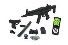 XXL Spielzeug SEK Polizei-Set Ratter-Gewehr MP5 Spezialeinheit Pistole Fasching