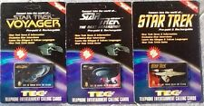STAR TREK TEC Card  Prepaid Phone Cards Set Of 3 New Sealed Unused