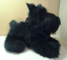 "Vintage Rare HTF Black Scottish Terrier 15"" Plush Long Hair Puppy Dog"