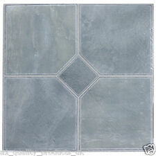 28 x Vinyl Floor Tiles - Self Adhesive, Bathroom Kitchen, Steel Blue Classic 180