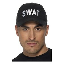 Men's Boy's Swat Team Baseball Cap FBI Police Fancy Dress Hat Themed Stag Night