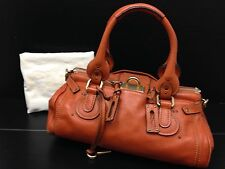 Auth CHLOE Light Brown Leather Paddington Handbag Vintage 6J110040N
