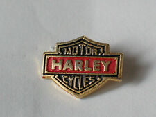 Harley Mini Shield Motorcycle Pin (1 Post) goldtone vintage Harley Davidson  **