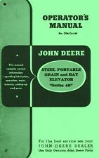 John Deere 46 Portable Elevator Operators Manual