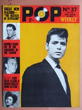 Pop Weekly No 37. 2nd series, 1964. The Golden Age of UK Pop!  Beatles cover.