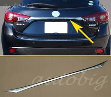 Tail Rear Trunk Lid Trim Cover Trims FOR Mazda 3 BM Hatchback AXELA 2014 2015