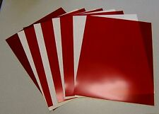 "5 SHEETS RED RUBYLITH 11"" X 14"" NOS BLOCK UV RAYS"
