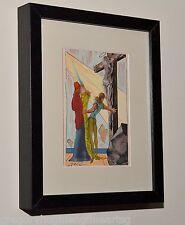 SALVADOR DALI Listed Artist GENUINE 1946 Color Print in MUSEUM BLACK FRAME #8