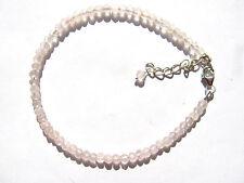 Rosenquarz-Rosequartz  facett. Armband 19,5-23 cm 925 Silber Nr. 3487