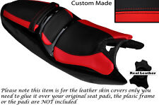 BLACK & RED CUSTOM FITS SACHS XTC 125 SET OF 3 LEATHER SEAT COVERS