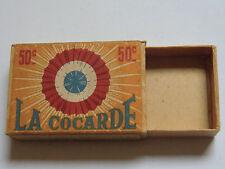 Boite d' Allumettes La COCARDE 50 c  1939 2ième Guerre Mondiale  WW2 matchbox