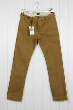 NEW LEE 101 SLIM CHINO JEANS  CORDS CORDUROY NUT BROWN W32 L32 32/32