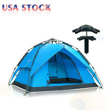 Hydraulic Self Pop Up Double Layer Camping Tent 3-4 Person Waterproof Outdoor