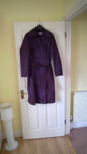 MARKS & SPENCER PER UNA LIGHT WEIGHT LONG COAT SIZE 16 COLOUR DARK SHIMMER BROWN