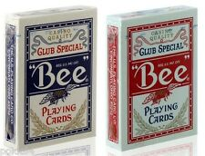 Lot de 2 jeux de 52 cartes POKER BEE CLUB SPECIAL 54 cartes Rouge et Bleu 0922